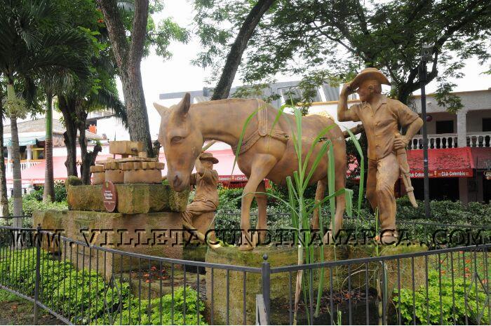 Parque principal La Molienda en Villeta Cundinamarca
