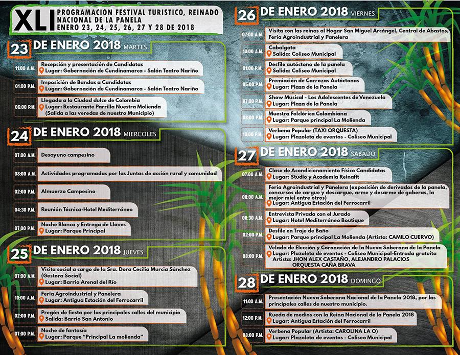 Cronograma Festival de la Panela en Villeta Cundinamarca