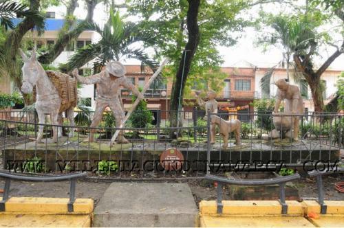 Parque central La Molienda de Villeta Cundinamarca